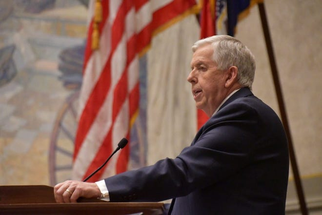Missouri Gov. Mike Parson delivered his State of the State address on Jan. 27, 2021 (photo courtesy of Missouri Governor's Office).