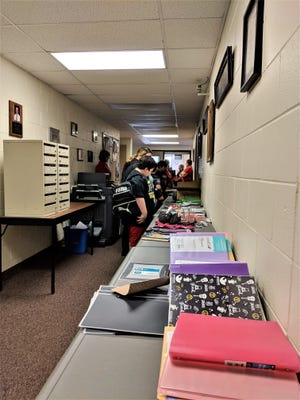 The annual backpack giveaway for students in the Springfield Local School District took place at the Lakemore Municipal Building.