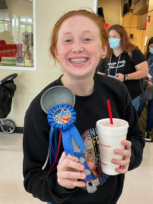Ava McCartney of the Franklin County 4-H was given the Spirit Award, a silver ladle,for herenthusiasm and positivity.