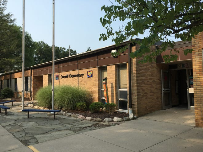 Cornell Elementary School in Okemos, where 24 students and staff tested positive for COVID-19 during a summer day camp.