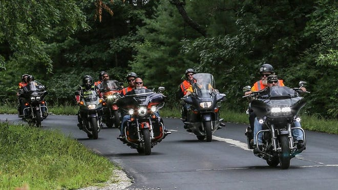 This photo from the 2017 VIPER ride encapsulates what the ride is all about with pilots and tailgunners enjoying the open road, according to T.J. Oman, a co-founder of the VIPER ride event.