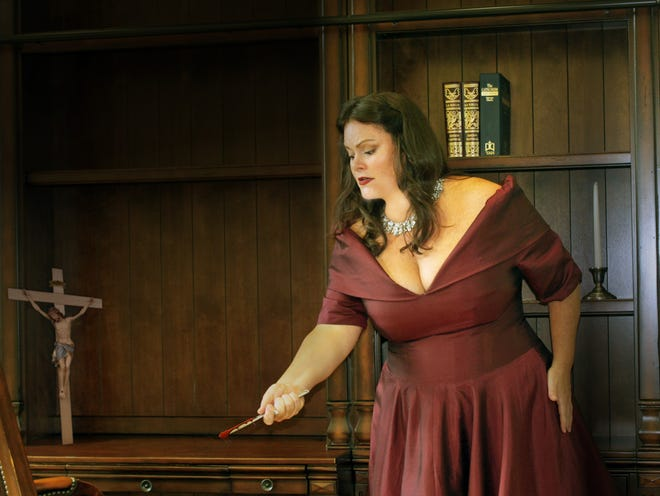 """Robyn Marie Lamp plays the beset heroine who exacts a fatal price in """"Tosca,"""" coming to three Southwest Florida venues."""