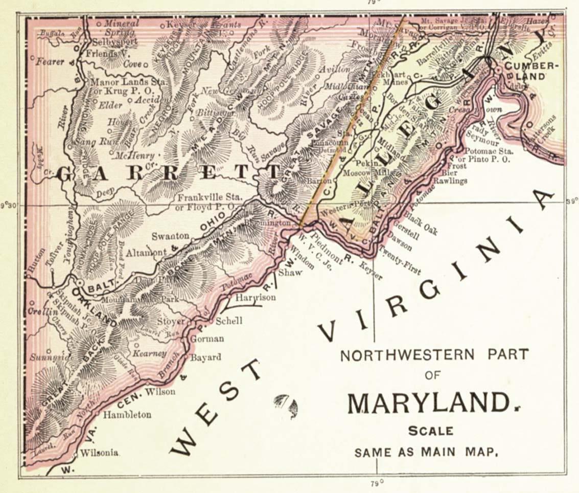 """An old map of Garrett County:"""