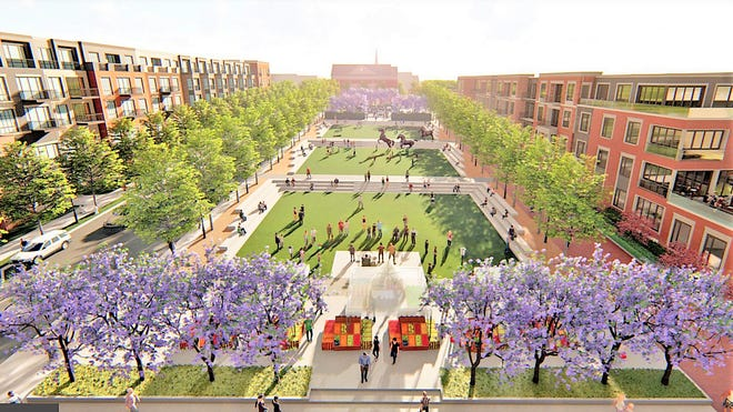 A rendering of The Downs Development.