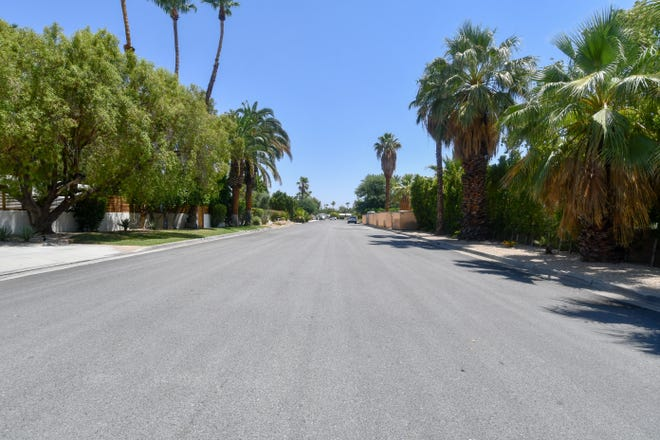 The 1100 block of Via Colusa in the Movie Colony neighborhood of Palm Springs.