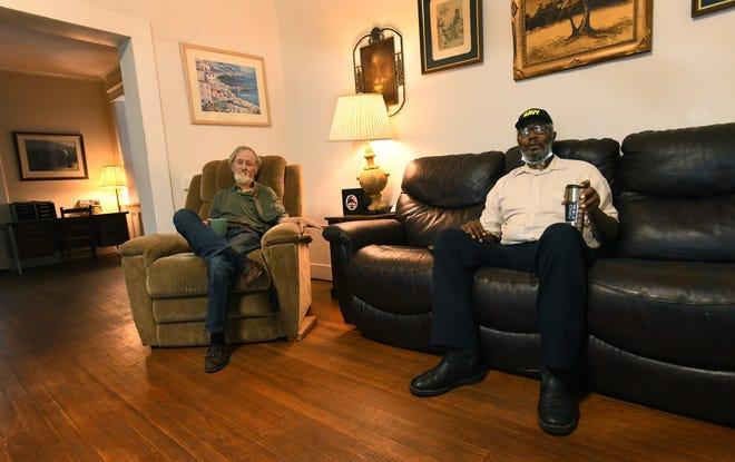 Veterans relax at Woody's Home for Vets in Shreveport.