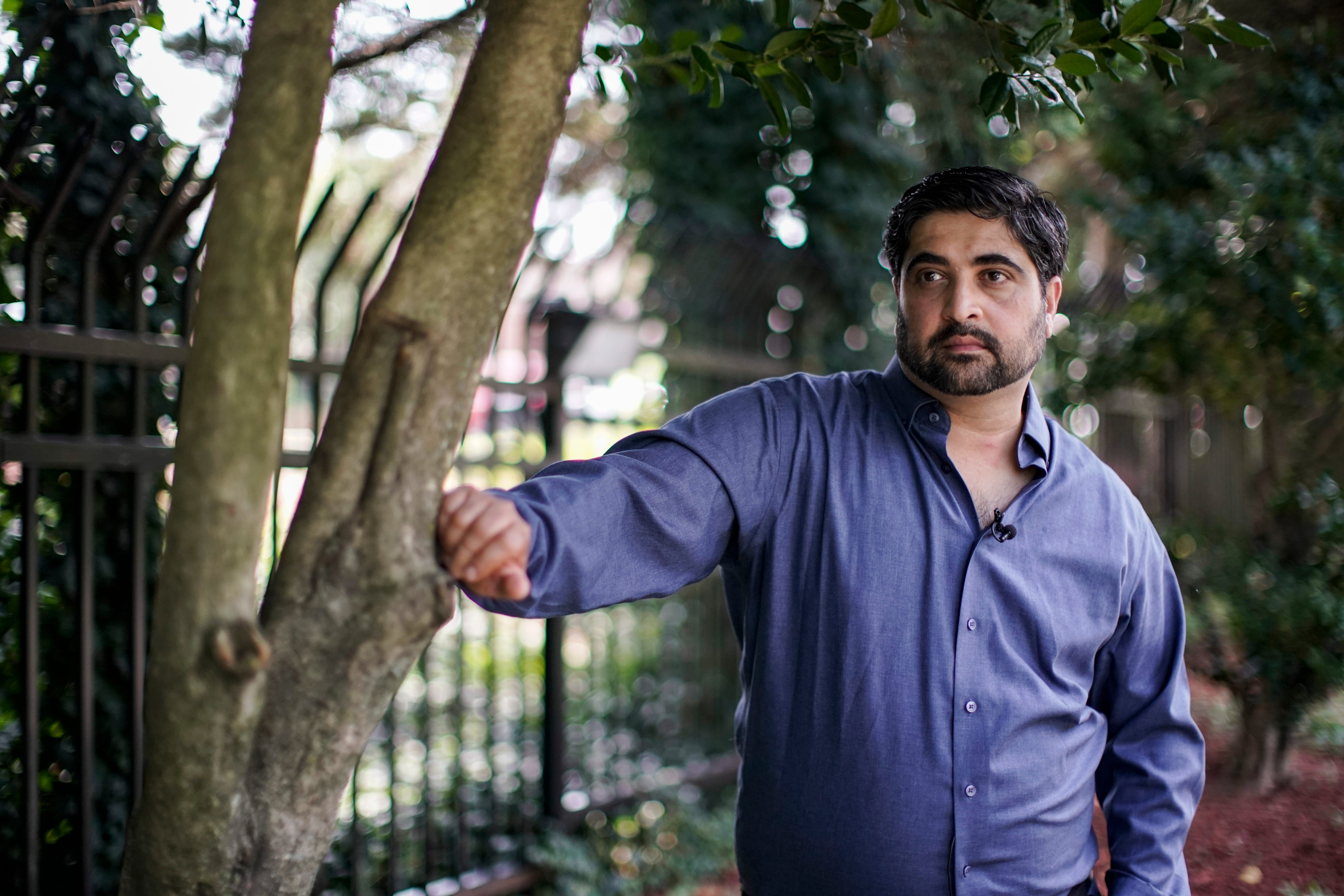 Muhammad Syed of Washington D.C., outside a mosque in Virginia. He left the Muslim religion in 2007 and later founded the nonprofit Ex-Muslims of North America, which helps others making the transition.