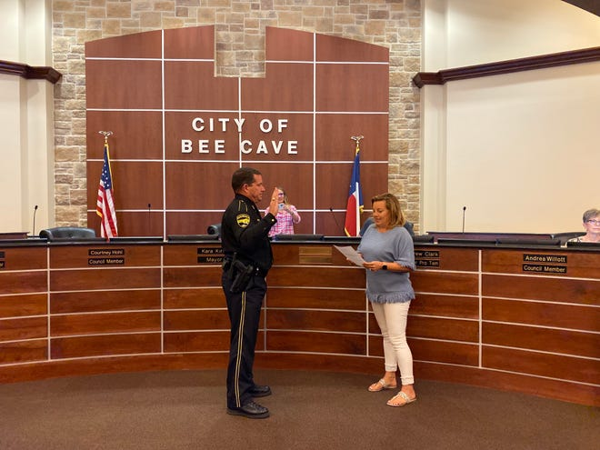 The Bee Cave City Council swore in the city's new police chief, Brian Jones, Tuesday night. Jones previously served in the Austin Police Department as a southeast patrol commander and has been in law enforcement for 25 years.