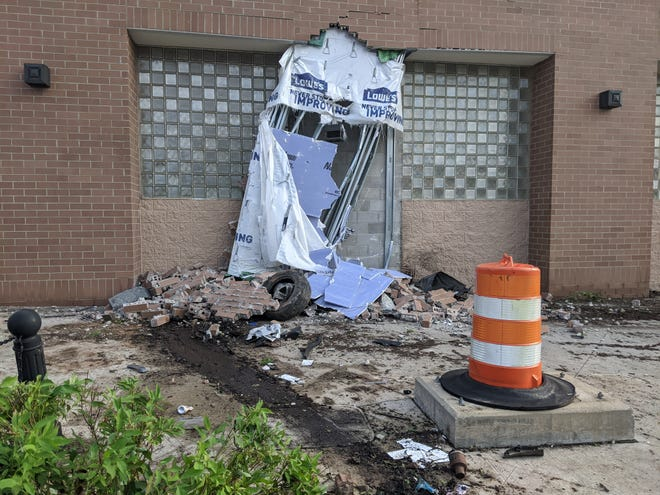 The fitness center in Cuyahoga Falls on Portage Trail was damaged in what appears to be a vehicle crash.