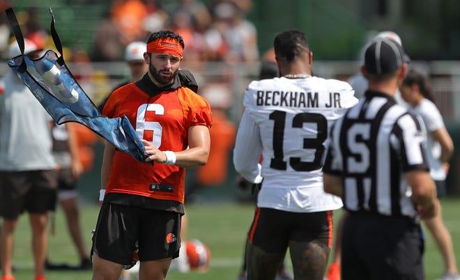 Browns quarterback Baker Mayfield and receiver Odell Beckham Jr. have been putting in extra work together.