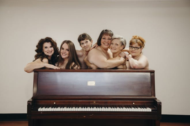 """The cast of Amarillo Little Theatre's upcoming production of """"Calendar Girls,"""" which opens Thursday at its Adventure Space."""