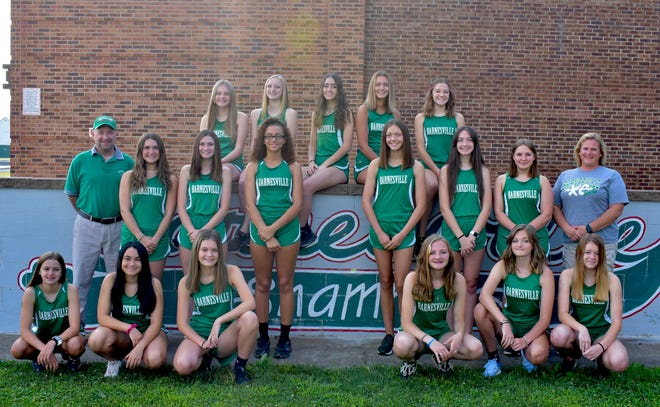 Pictured is the Barnesville High School girls' cross country team.