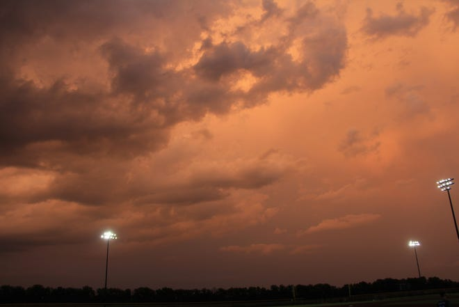 Clouds after a thunderstorm in Goddard, Kansas