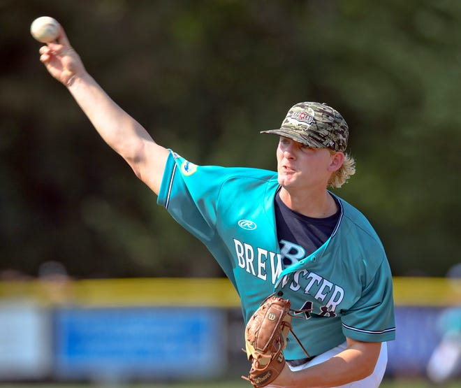 Brewster starter Chris McElvain pitched well after a rough first inning against Bourne on Wednesday.