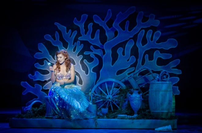 """Meadow Nguy plays Ariel in the Arrow Rock Lyceum Theatre production of """"The Little Mermaid."""""""