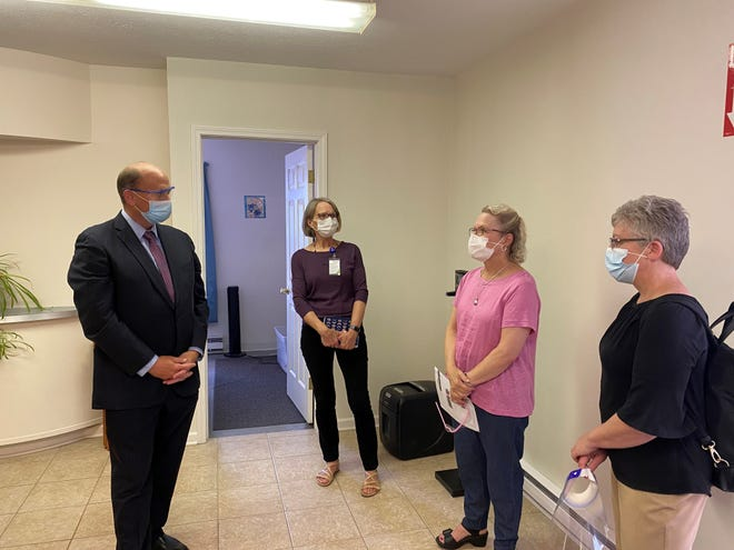 """Last week was """"Health Center Week"""" and Rep. Tom Reed visited Penn Yan Community Health (part of Finger Lakes Community Health) to discuss many healthcare topics with FLCH CEO Mary Zelazny and the leadership team."""
