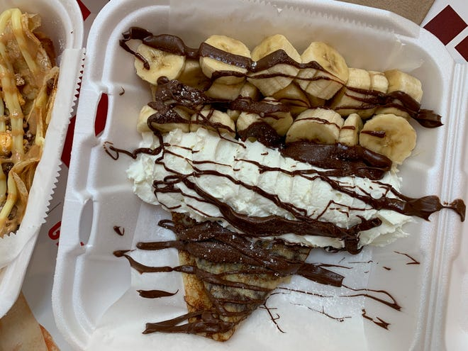 A sweet treat from Fay's Crepes, which is opening at Easton on Aug. 21.