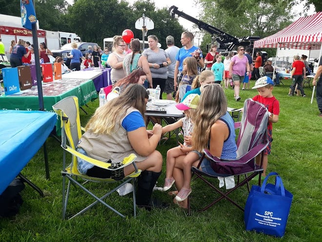National Night Out festivities at Jules Bisson Park in Somersworth on Aug. 3, 2021.