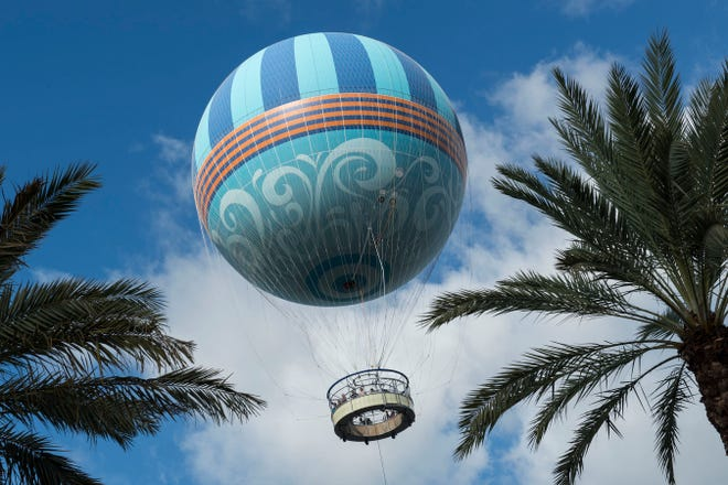 Aerophile can carry more than 20 passengers over Disney Springs 400 feet.