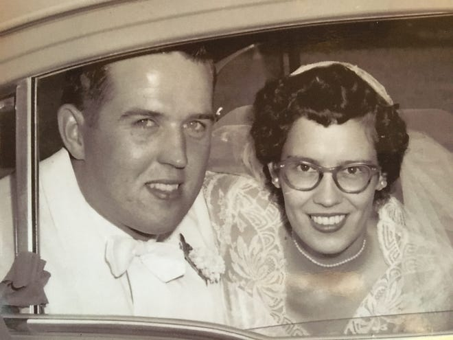 The couple in 1955.