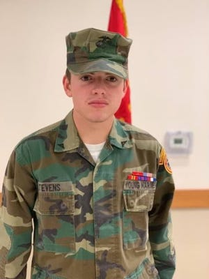Robert Stevens, a member of the Monroe County Young Marines, is currently the Monroe County Young Marine of the Year.