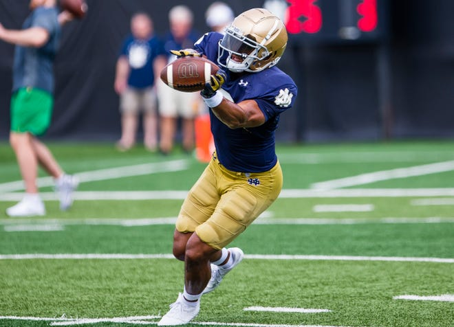 Notre Dame wide receiver Avery Davis has more career receptions (39) than any two other receivers combined on the Irish roster.
