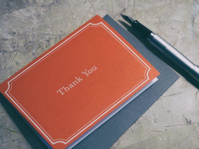 The thank you card can be a treasured keepsake