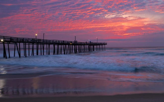"""""""Daybreak at the Fishing Pier,"""" a photograph chosen for the 42nd annual Jack Parfitt juried photo exhibition, by Ralph Fletcher"""