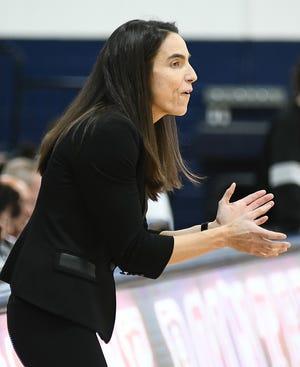 Brown women's basketball coach Monique LeBlanc.