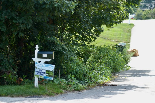 Neighbors objected to a plan to build on a small lot almost entirely covered by wetlands in Cumberland.
