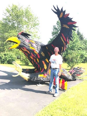 """Bill Starcher with """"Phoenix Rising from the Ashes."""""""