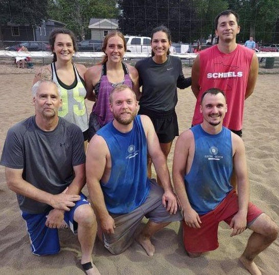 Sand Volleyball 'A' League Playoff Runner-Ups—Electric Motor Company