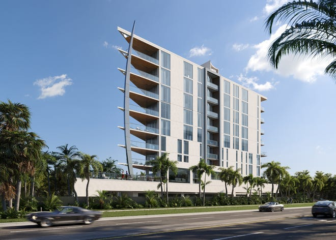 SIX88 Residences will be a nine-story condominium in the Golden Gate Pointe neighborhood. Vandyk Properties submitted a land development application with Sarasota city officials in late July.