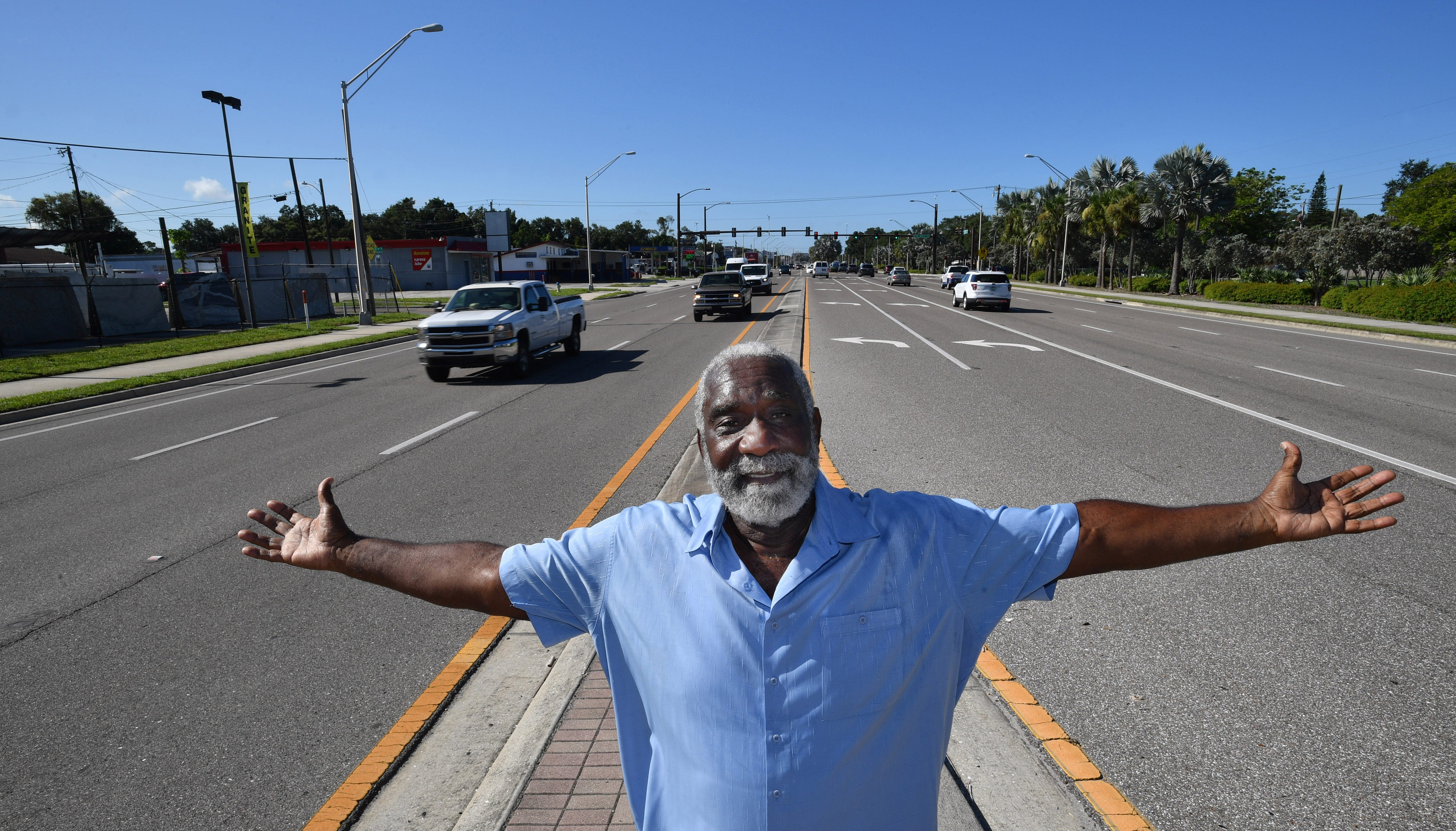 Fredd Atkins, a lifelong resident of Sarasota's Newtown neighborhood, remembers when U.S. Highway 301 hadn't yet sliced through the neighborhood. The former Sarasota city commissioner said the six-lane highway has divided the community and been very dangerous.