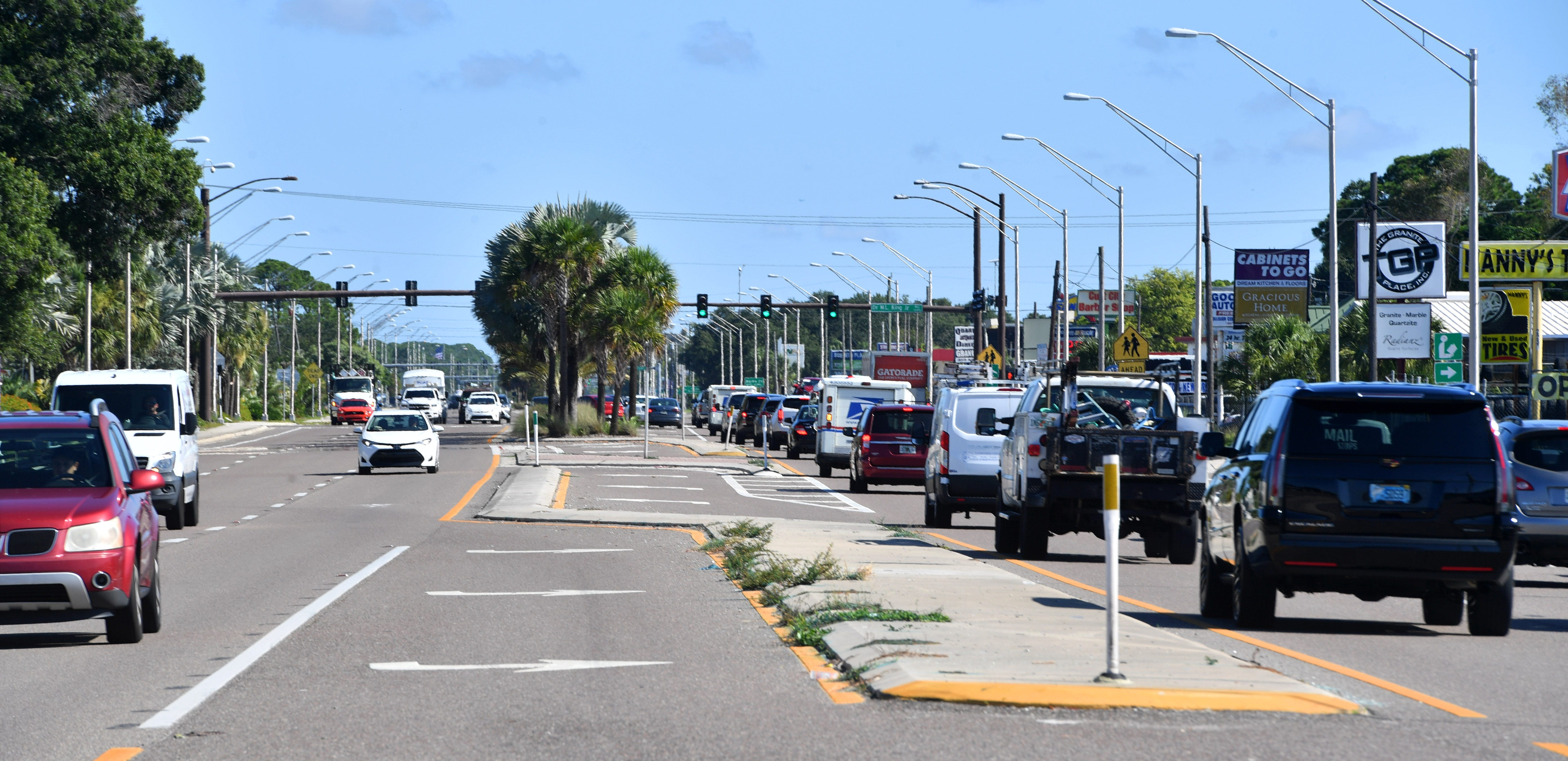 U.S. Highway 301 in Sarasota, which has hobbled people trying to run a business in the historically Black Newtown neighborhood, is pictured recently looking north toward Dr. Martin Luther King Way and the Newtown community.