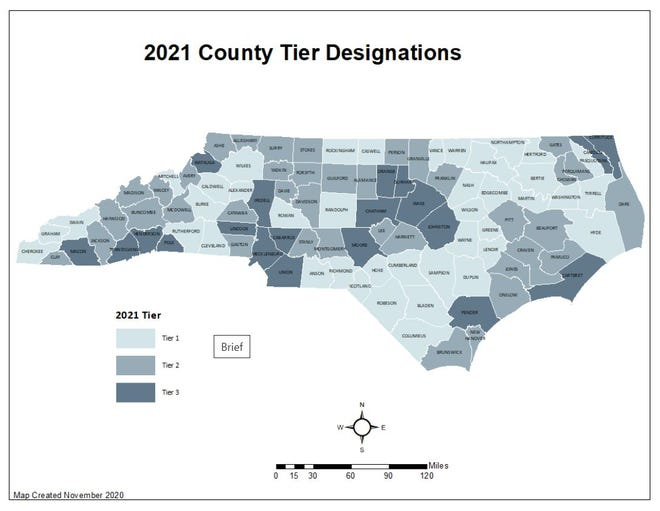 According to the N.C. Department of Commerce, Pender County is  one of the least economically stressed  counties in the Southeast.