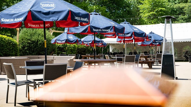 Outdoor dining at the Fireside Grille in Middleboro. The restaurant will be hosting a Drag Brunch on Aug. 22 to help support the Miss Massachusetts Scholarship Foundation.