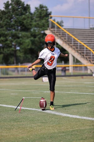 South View's Natalia Roberson made two extra-point attempts in the Tigers' win at Douglas Byrd on Friday.
