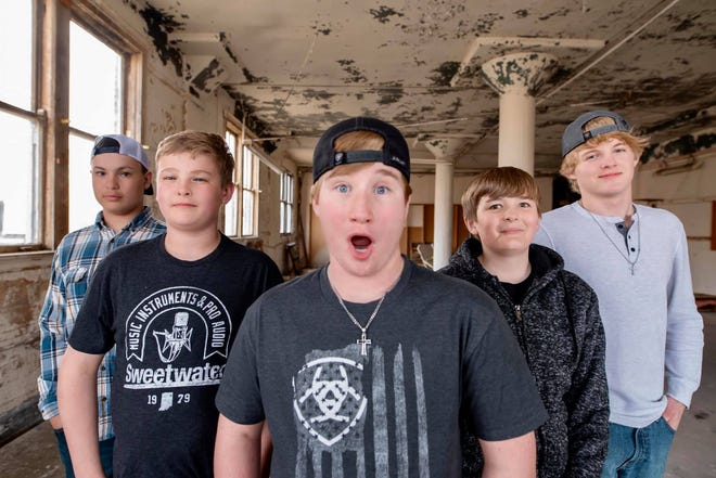 The JAIK Band is comprised of, from left, Connor Mark, Kale Davis, Jayden Fischer, Isaak Miller and Jeremiah Leadabrand.