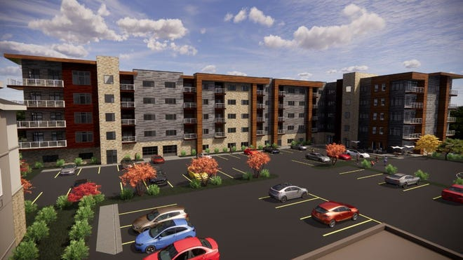 The proposed Edgewater Pointe Apartments will have 101 market-rate units.