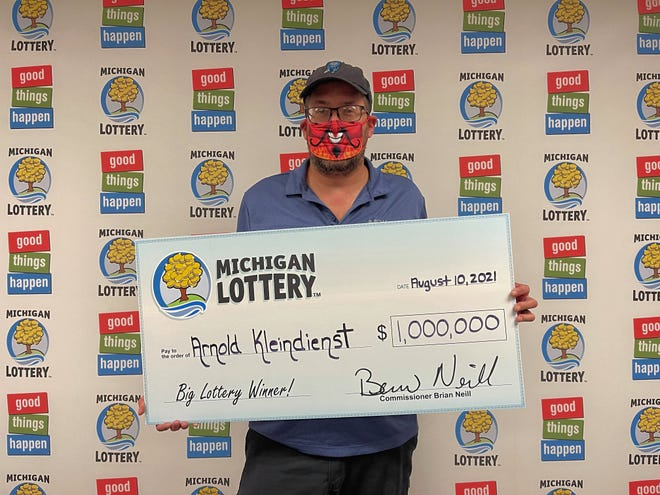 Arnold Kleindienst of Sand Creek recently won $1 million on a Michigan Lottery Millionaire Wild Time instant game.