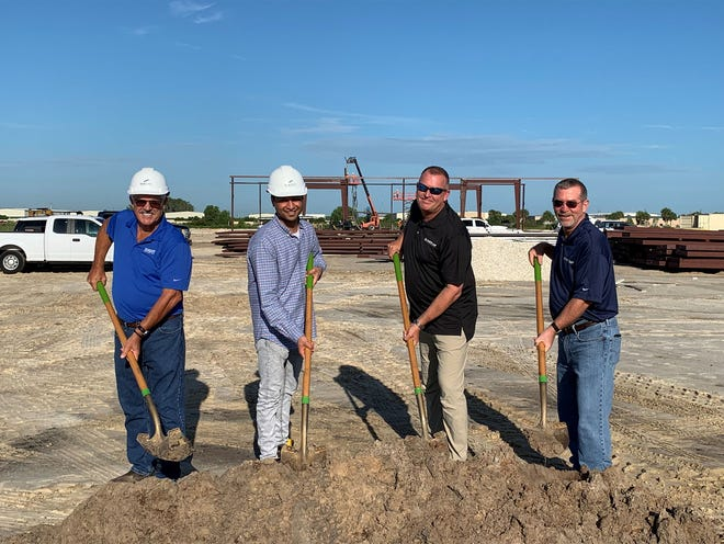 (From Left to Right): John Berry, Sr. Construction Manager, Seagate Development Group; Keshav Goyal, Project Manager, Seagate Development Group; Mikel Valett, District Manager, White Cap Construction Supply; Jeff Rueffer, Manager, White Cap Construction Supply