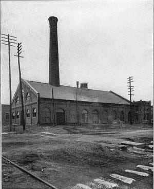 On Aug. 15, 1896, the city's first electric power plant at Fourth and Elm streets was activated, as well as 154 streetlights that replaced the gas streetlights that had been installed in 1860. The city began selling arc lamps and power to merchants in 1899. (Photo from Illustrated Henderson 1911, issued by  the Henderson Commercial Club, Published by Cincinnati Illustrated Publishing Co.)