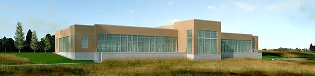 A rendering of Bank First's future Operations Center in Manitowoc.