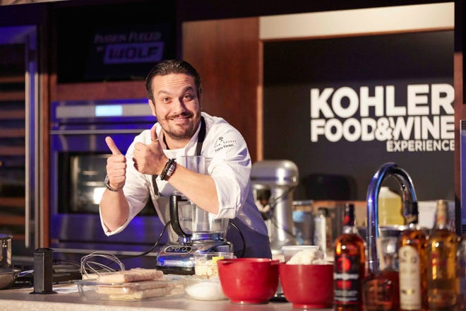 Fabio Viviani, shown at Kohler Food & Wine Experience in 2013, returns to the festival's lineup of star chefs this year. The event is in October, and tickets are on sale now.