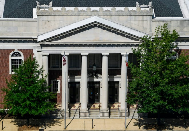 Montgomery City Hall is seen in Montgomery, Ala., on Thursday August 12, 2021.