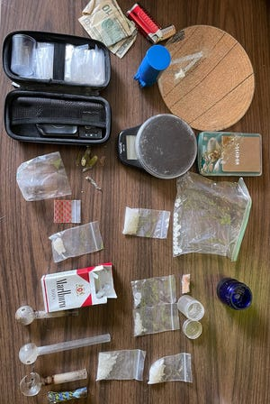 The Wayne County Drug Task Force seized contraband Wednesday, Aug. 11, 2021, while executing a search warrant.