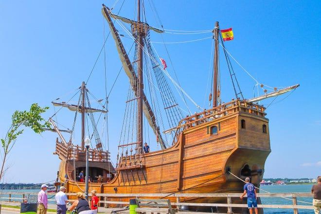 The Nao Santa Maria has now docked in Ocean City.