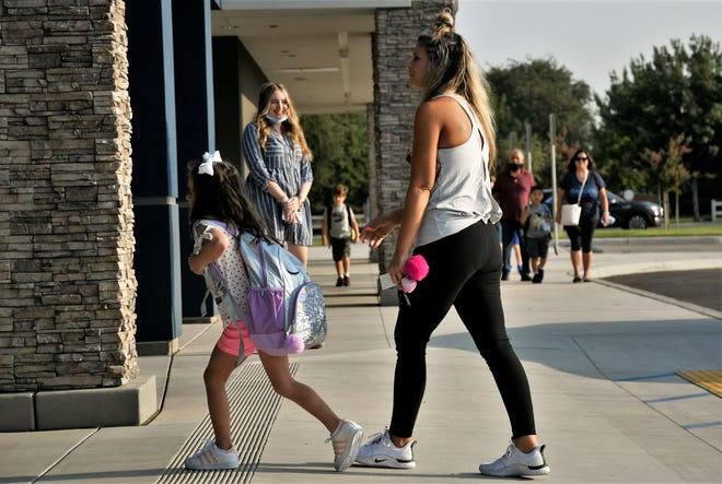 Denton Elementary School welcomed back students on Thursday, August 12, 2021.