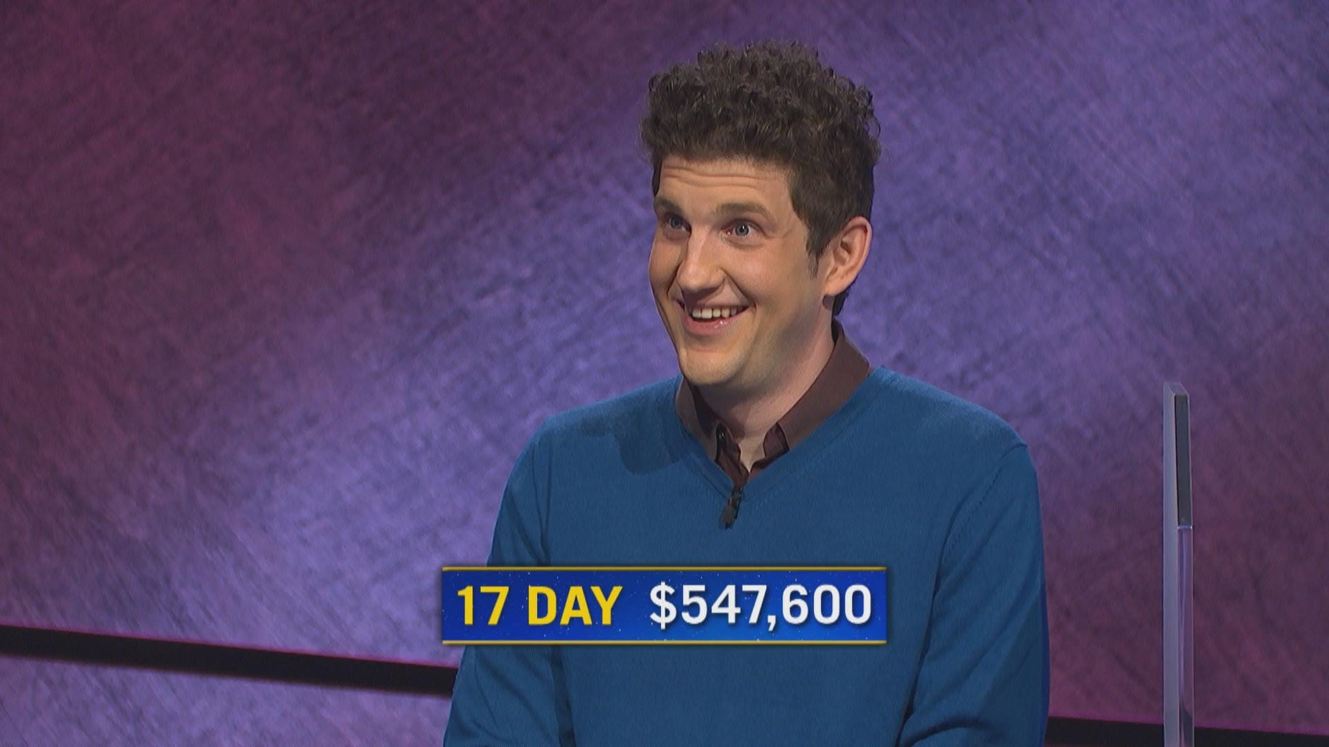 Jeopardy!  champion Matt Amodio on his tactics for winning:  I never endanger the game